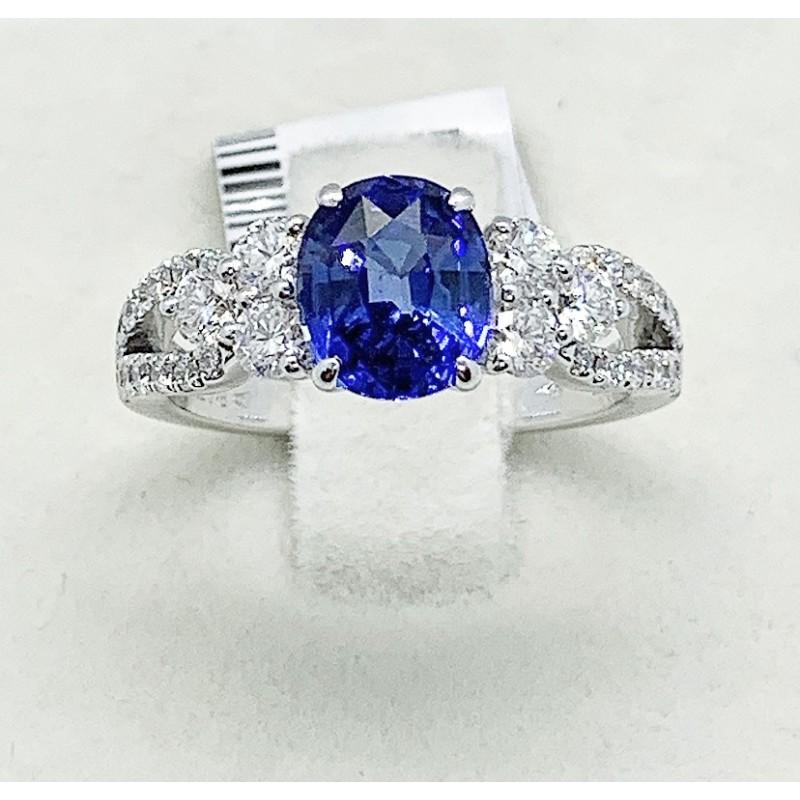 nuovo concetto 7c384 13a8d Crivelli-Anello con zaffiro e diamanti